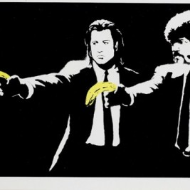 Banksy - Pulp Fiction - 2004 - Serigraphie 50x70 cm