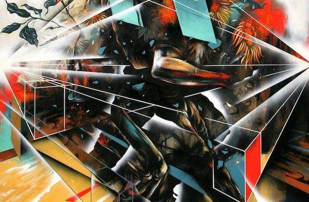 Dave Kinsey - Riot & Reason tehcniques mixtes sur toile 2011