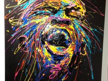 Flow - Cri - Dripping acrylique sur toile