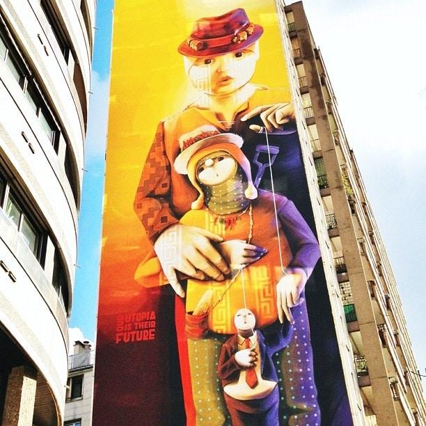 Inti Castro Fresque Murale Paris 13e