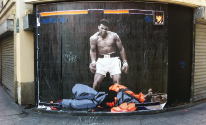 Street Artiste Combo Paris Rue Saint Denis Street Fighter Muhammad Ali