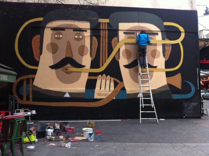 Agostino Iacurci - le mur 2013