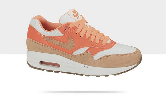 Air Max 1 Vintage Orange-Cream Style - Couleur # 555284-106 - Chaussure pour Femme Collection Printemps été 2013