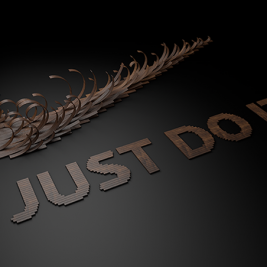 Nike Typographie Just Type It - Txaber - Just Do It