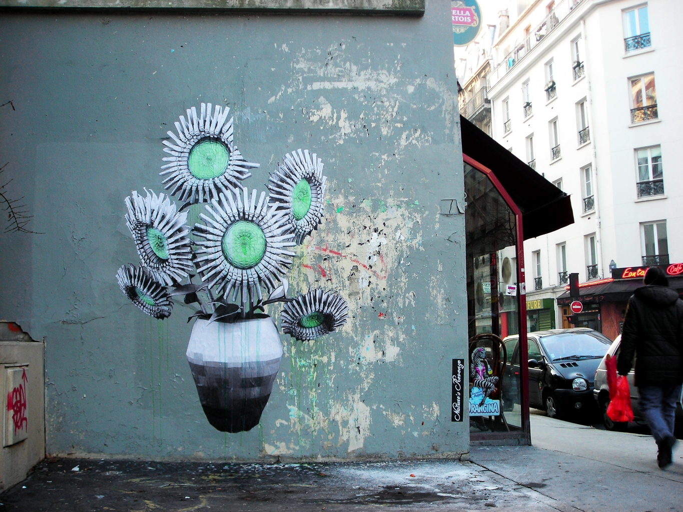 Street Artiste LUDO The-Gunflowers Paris 2009