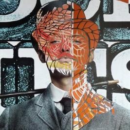 Thom Thom Papier découpé marouflé sur toile