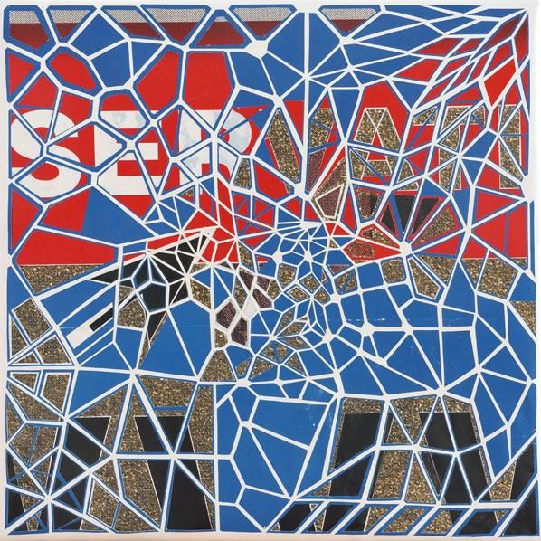 Thom Thom - sans reservation - affiches découpées et marouflées sur toile