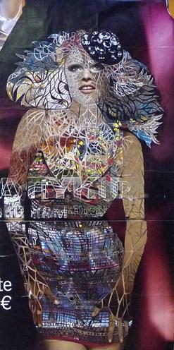 Thom Thom - sevres lecourbes - papier découpé sur toile