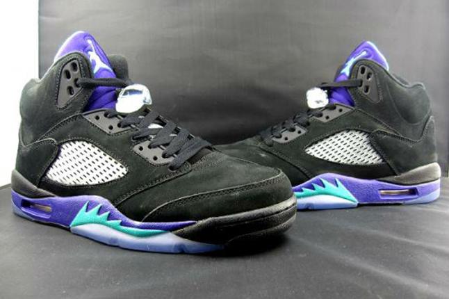 Air Jordan V 5 Black Aqua 2013