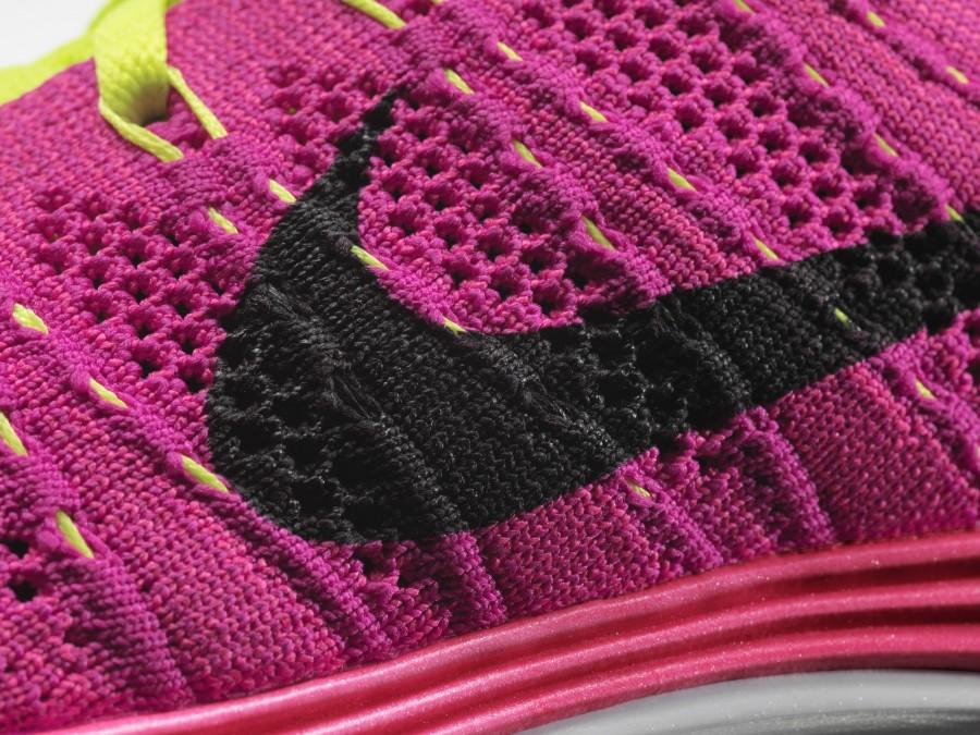 Nike Flyknit Lunar 1+rose fushia
