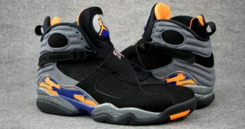 Air Jordan 8 Phoenix Suns Black-Citrus
