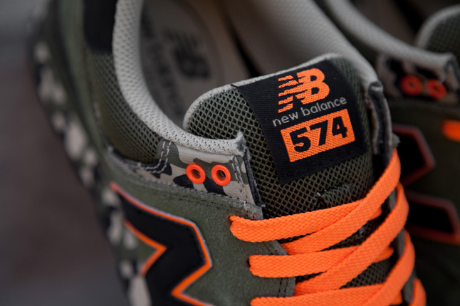 new balance grise et orange fluo