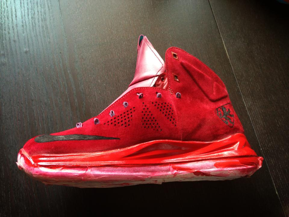 Lebron X EXT Red Suede - RudBoy - Base