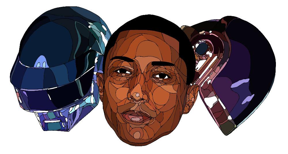 Shaz-Art-Daft-Punk-Pharrel-Wiliams-Illustration