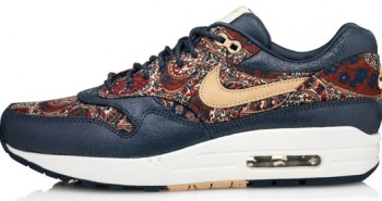 Air Max 1 trainers from the Nike X Liberty collection blue