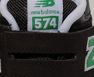 New Balance 574 scratch velcro enfant bébé-details3