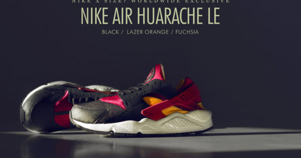 Nike Huarache X Size Black Orange Fuchsia