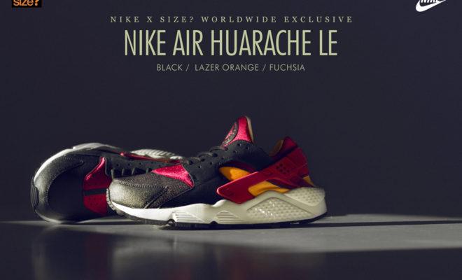 Nike Huarache X Size Black Orange Fuchsia