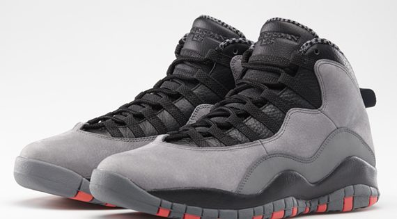 Basket Air Jordan 10 X Cool Grey / Infrared