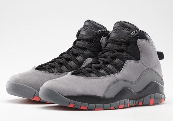 Basket Air Jordan 10 X Cool Grey / Infrared