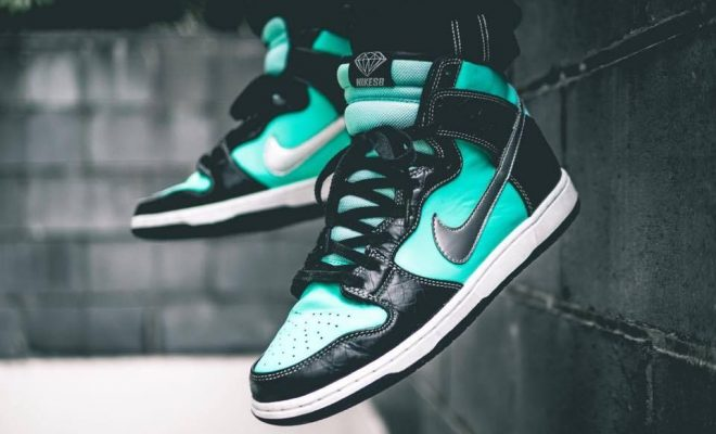 Nike SB Dunk High Tiffany Diamond Supply