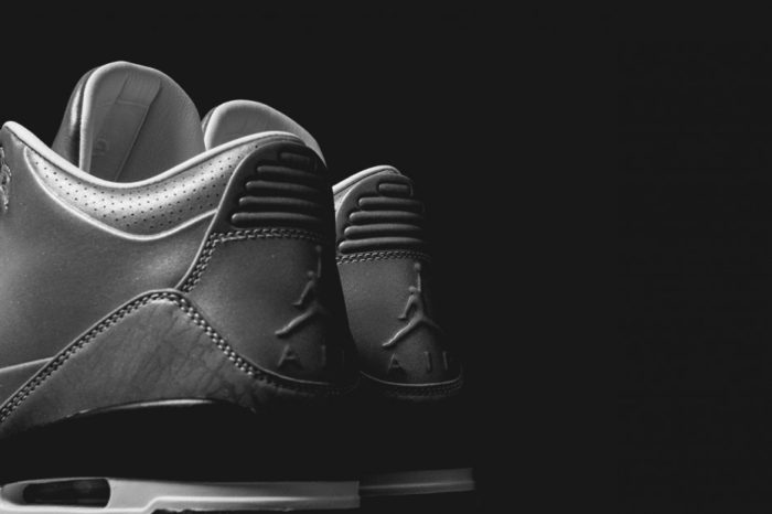 Air Jordan 3 5Lab3 Metallic Silver details