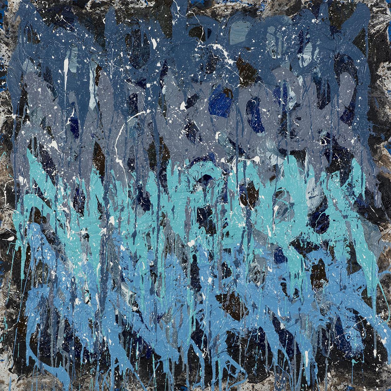 JonOne Forest Mist 2014 110 x 110 cm