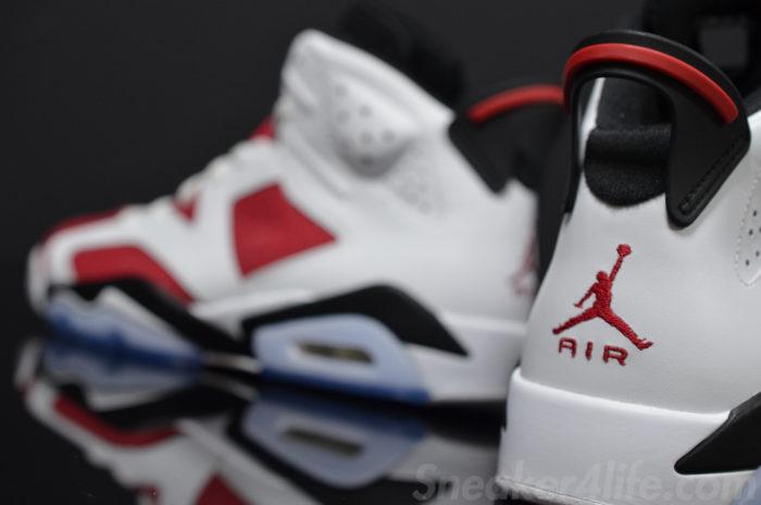Air Jordan 6 Carmine logo Jumpman