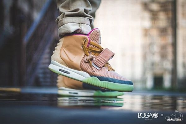 Custom Sneakers Nike Air Yeezy 2 Net by Maggi