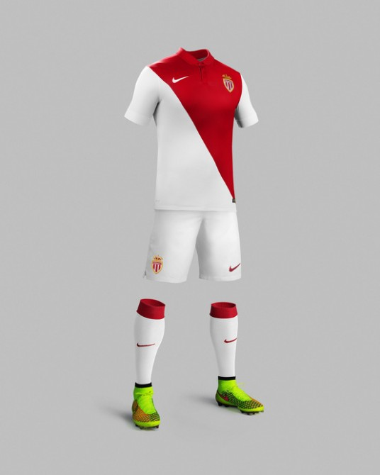 nouvelle tenue de l'AS Monaco par Nike