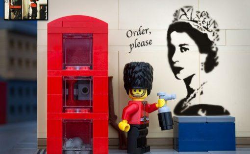 Banksy Order Please Anarchy Lego