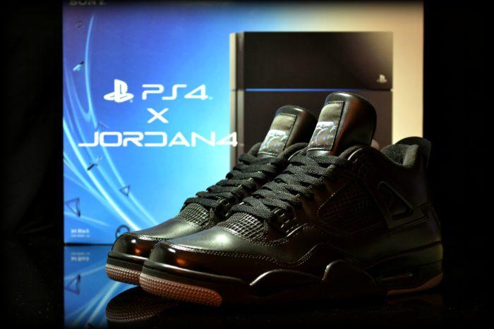 Air Jordan 4 X Playstation 4 Customisation by FreakerSneaks