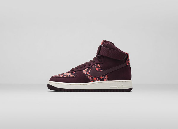Nike Air Force 1Liberty London Collection Belmont Iv Burgundy