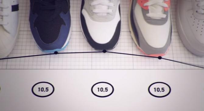 connaître sa pointure de sneakers