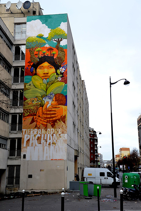 Fresque mural Street Art Paris 13 - Alapinta