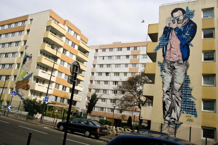 Fresque mural Street Art Paris 13 -Jana et Js