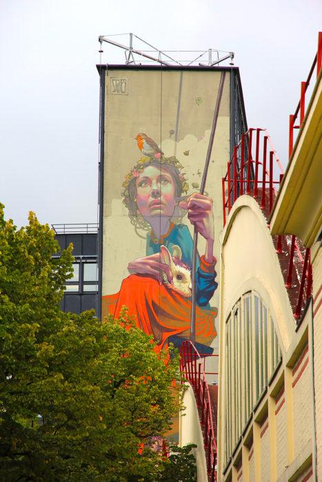 Fresque mural Street Art Paris 13 - Sainer
