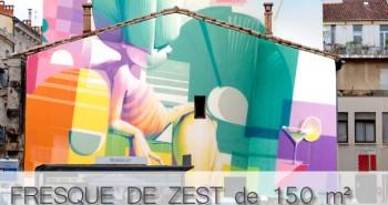 Fresque Graffiti ZEST Montpelllier