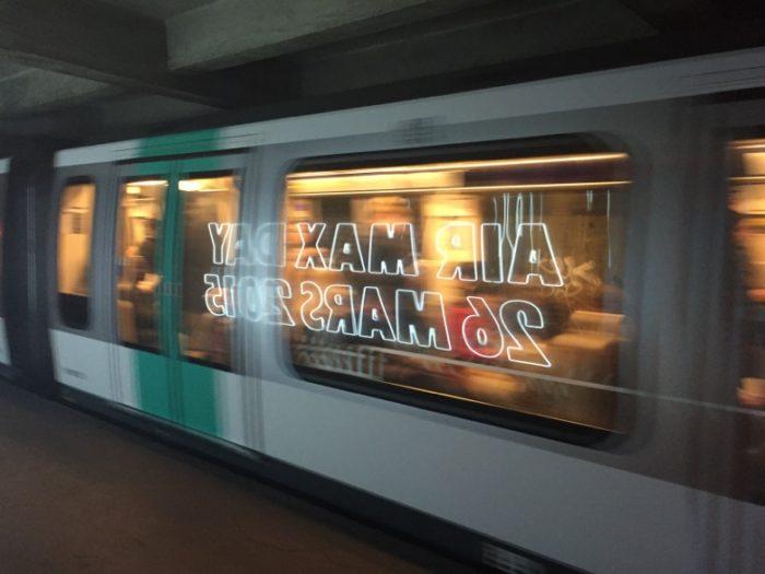 Air Max Day station de metro paris
