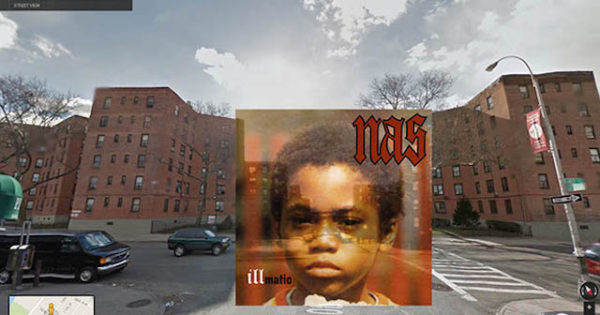 Iconic Hip Hop Albums in Google Street View - NAS