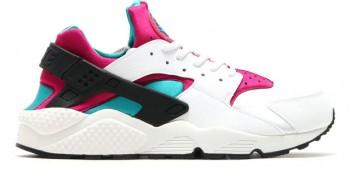 Nike-Air-Huarache-Emerald-Fushia