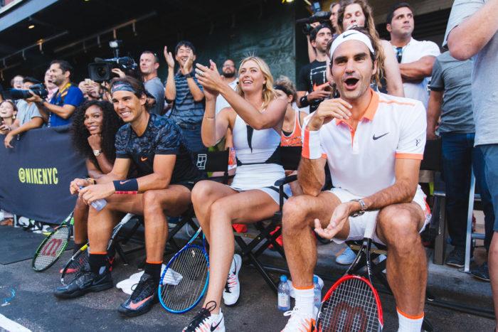 NikeCourt Serena Williams Rafa Nadal Maria Sharapova and Roger Federer