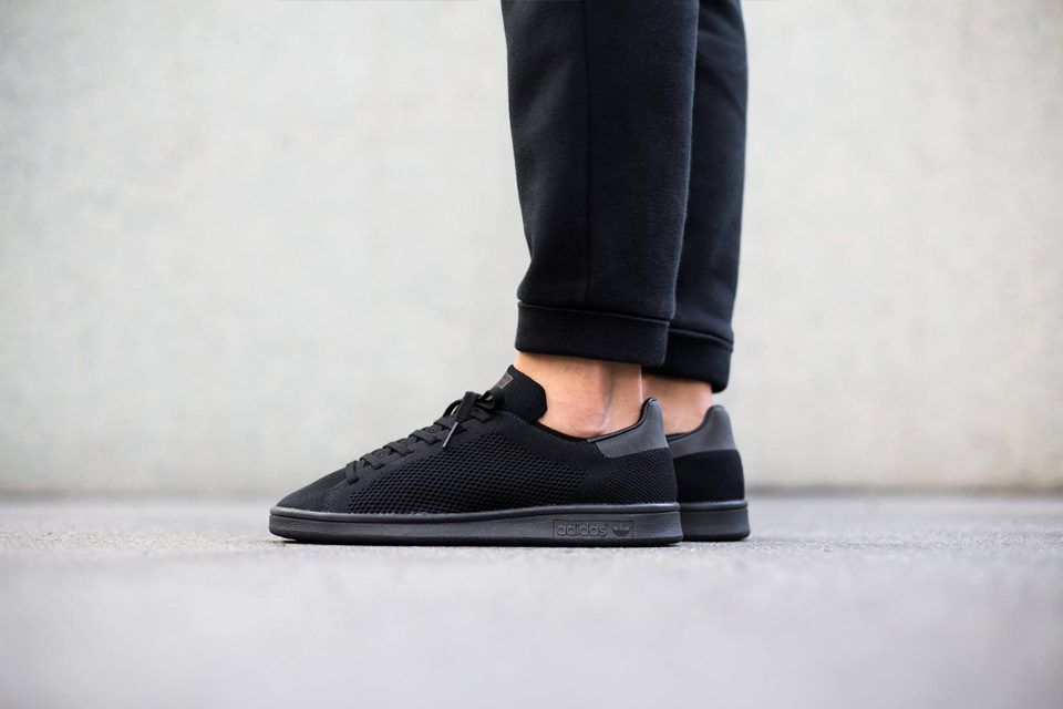 adidas stan smith All Black Primeknit   Sneak-art