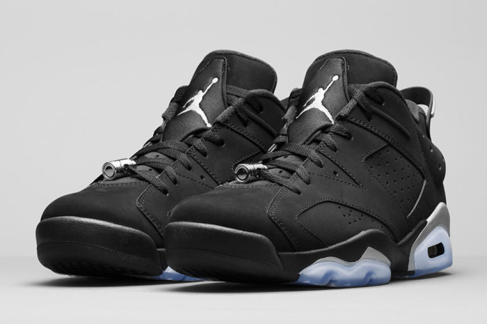 Air Jordan 6 Low Black Metallic Silver