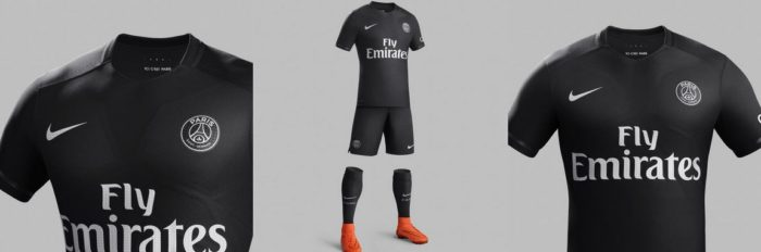 Maillot Noir PSG Nike Dark Light
