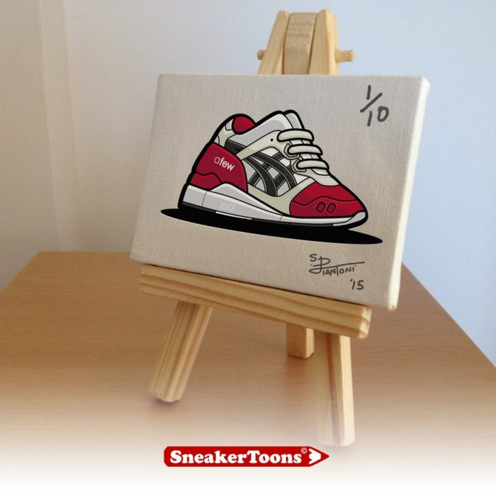 Mini Tableaux SneakerToons asics gell lyte III afew