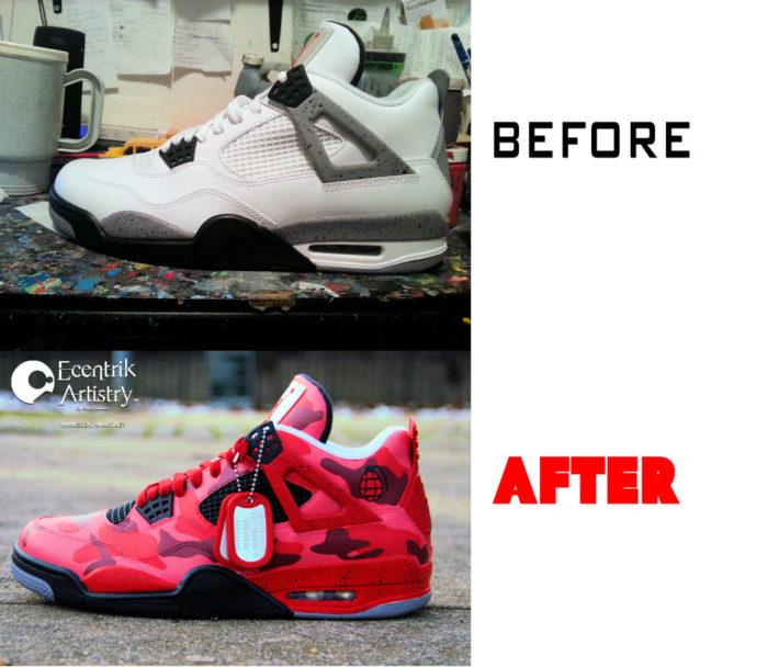 Air Jordan 4 Custom before - after