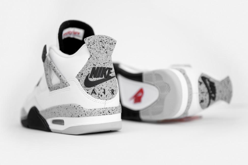 Air Jordan 4 white cement 2016 code sku 308497-104
