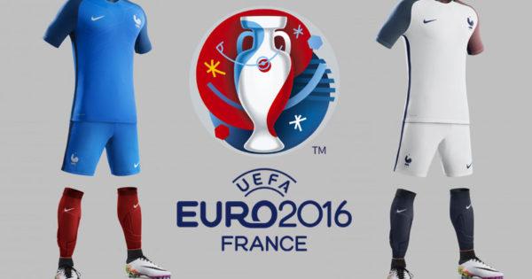 Photo des nouveaux Maillots de l'Equipe de France pour l'Euro-2016