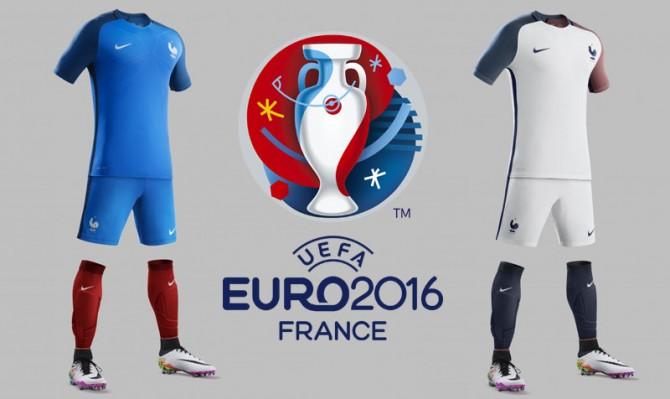 Maillots Equipe de France de Football pour l'Euro 2016